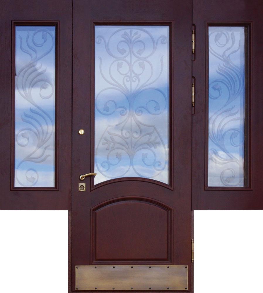 купить входные двери со стеклом для магазина