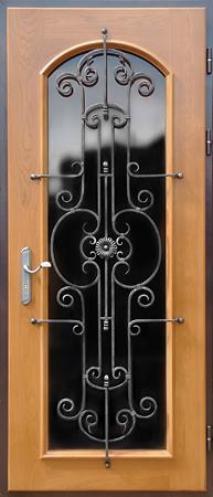 показать дверь входная металлическая со стеклопакетом