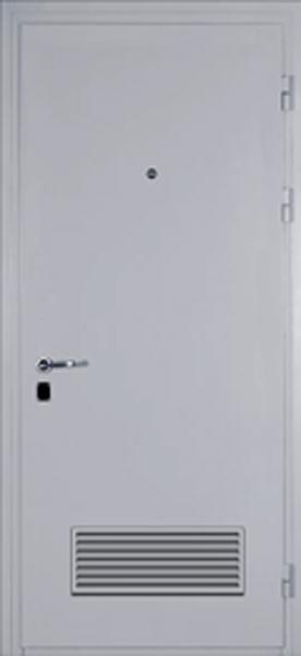 технические двери металлические с вентиляционной решеткой