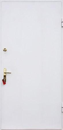 белые порошковые металлические двери