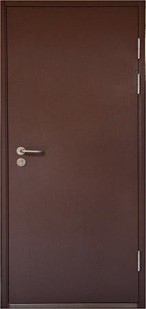 железные коричневые двери с порошковым покрытием