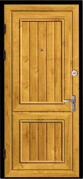 стальная дверь обитая деревом