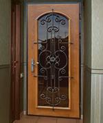 металлические двери для загородного дома уличная элементами ковки